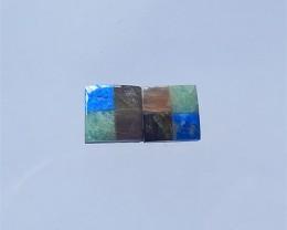 3.5ct Obsidian,Lapis Lazuli,Sun Stone And Labradorite Cobchon Pair(18032608