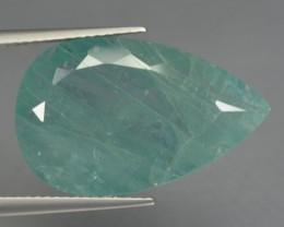 Rare 12.75 Ct Natural Green Grandidierite Pear Cut Madagascar Gem