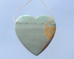 97.5ct Natural Heart Cut Wave Jasper Drilled Pendant (18032616)