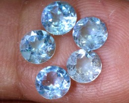 2.6CTS BLUE TOPAZ NATURAL CABS FACETED PARCEL  CG-2402
