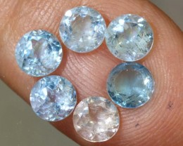 3.65CTS BLUE TOPAZ NATURAL CABS FACETED PARCEL  CG-2403