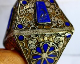 1391 CT Natural lapis lazuli  Ring Stone Special Shape