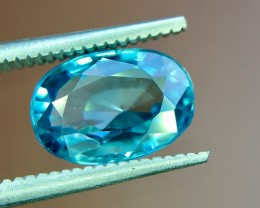 3.45 Crt Natural Combodia Blue Zircon  Faceted Gemstone (R 157)