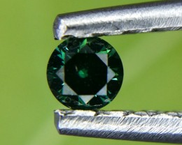 0.09 Crt Natural Green Daimond Faceted Gemstone (968)