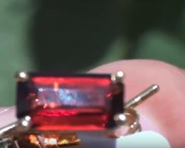 Malaya Garnet 2.90ct 18ct Solid Gold Earrings