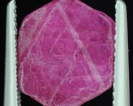 No Reserve 3.25 Crts  Hexagonal Ruby Crystal with Trigons ~ Madagascar