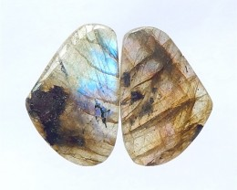 24ct Natural Labradorite Cabochon Pair(18032702)