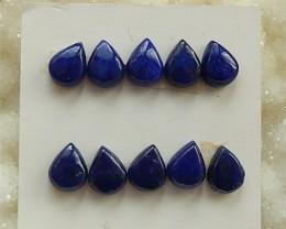 15ct  10Pcs  Natural Lapis Lazuli  Cabochon (18032705)
