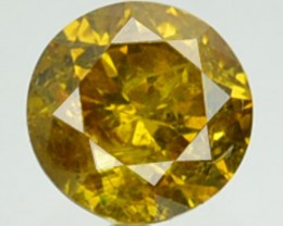 0.30 Cts Natural Canary Yellow Diamond Round Africa