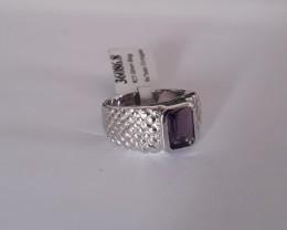 Amethyst 925 Sterling silver ring #086