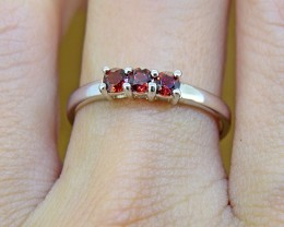 N/R Natural Garnet  925 Sterling Silver Ring(SSR0349)