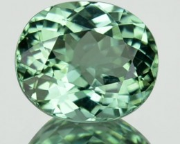 1.90 Cts Natural Mint Green Tourmaline Oval Mozambique