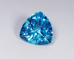 """8.40 ct """"Certified Gem"""" Top Luster Stunning Trillion Cut Natural"""