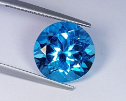 "10.54 ct "" IGI Certified "" 13mm Round Cut Stunning Super Swiss Bl"