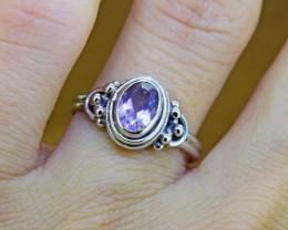 N/R Natural Amethyst  925 Sterling Silver Ring(SSR0116)