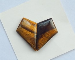 13.5ct Natural Tiger-Eye Cabochon Pair(18032826)