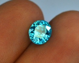 Top Grade 2.00 ct Blue Zircon~Cambodia . AM
