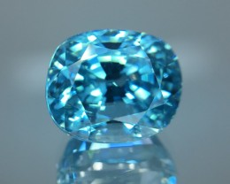 10.65 Cts Blue Zircon Awesome Color ~ Cambodia 94