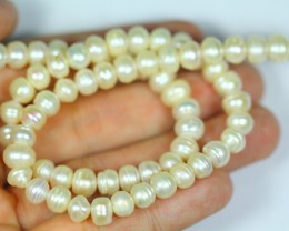 124.5Cts Semi-Round Pearl Strands