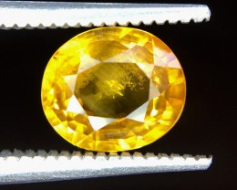 1.80 Crt Natural Yellow Sapphire Faceted Gemstone (R 158)