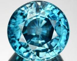 8.33 Cts Natural Sparkling Blue Zircon Round Cut Cambodia