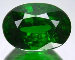 CERTIFIED 1.54 Ct Natural Green Tsavorite Garnet Oval Cut Kenya Gem