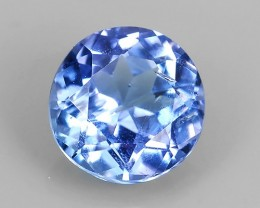 1.00 CTS LUSTER ROUND COLLECTORS GEM NATURAL RARE BLUE~TA