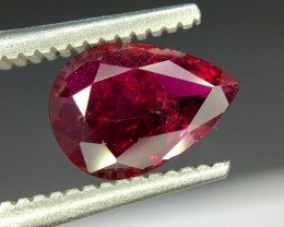 0.98 Crt Gil Certified Untreated Ruby Faceted Gemstone (R 158)