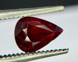 1.0 Crt GIL Certified Untreated Ruby Faceted Gemstone