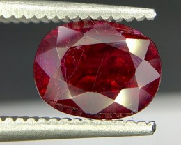 1.65 Crt GIL Certified Untreated Ruby Faceted Gemstone