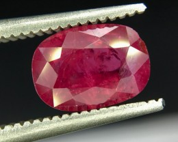 1.39 Crt GIL Certified Untreated Ruby Faceted Gemstone