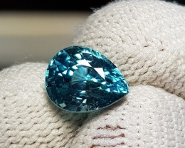 3.63 CTS NATURAL BEAUTIFUL PEAR MIXED BLUE ZIRCON FROM CAMBODIA