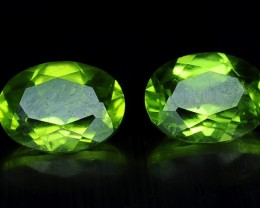 3.05 Crt  Beautiful calibrated Pair of Peridot Gemstone ~ China