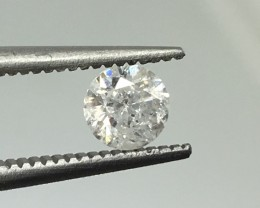0.43 Crt Certified Natural White Diamond Faceted Gemstone