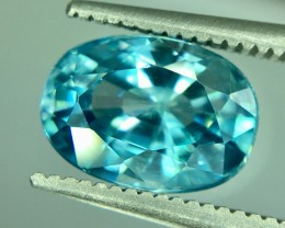 3.30 Crt Natural Blue Zircon Faceted Gemstone (R 159)