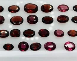 24.10 Crt Natural Rhodolite Garnet Parcel Faceted Gemstone (R 159)