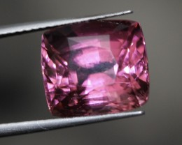 11.72 ct Exceptional pink rubellite tourmaline faceted cushion.