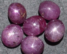 30.65 Ct Star Ruby Wholesale Lot Beautiful Natural Unheated & Untreated