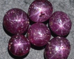 37.75 Ct Star Ruby Wholesale Lot Beautiful Natural Unheated & Untreated