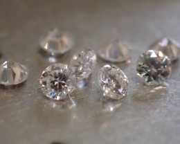 10 NATURALS WHITE DIAMONDS 1.80mm IF/DE