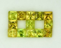 6.52 Cts Fabulous 4.5mm Princess Cut Sphene