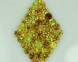 5.83 Cts Gorgeous 3mm Round Diamond Cut Sphenes
