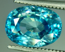 4.40 Crt Natural Blue Zircon Faceted Gemstone (R 160)