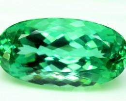 39.60 CTS Oval Cut Lush Green Spodumene Gemstone From Afghanistan