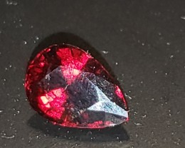 3.98 Ct Natural Rhodolite Garnet Crimson Red Pear Cut