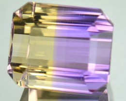 3.69 Cts Natural Bi Color Ametrine Octagon Cut Bolivian Gem