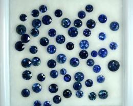 3.99 Cts Natural Deep Blue Sapphire Nice Round 58 Pcs Parcel
