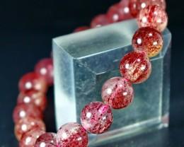 149 CT Natural Cherry Quartz Bracelets Carved Beads Stone Special Shape