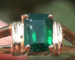 Swat Valley Emerald .87ct 18ct Solid Gold Ring