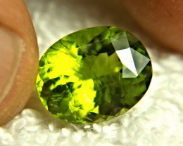 7.60 Carat Fancy Vibrant Green Himalayan Peridot - Gorgeous